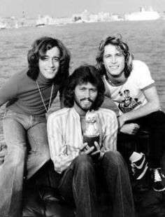 Robin, Barry, and Andy Gibb