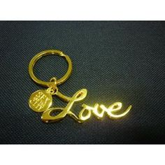 Sex and the city love keychain keyring keyfob gold tone for sale online