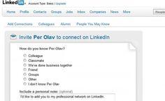 LinkedIn Tips nr 6 – Inviter alle du treffer til LinkedIn  http://jobbportalen.no/blogg/linkedin-tips-nr-6