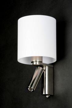 Wandlamp 88925: Modern, Kunststof, Staal , Rvs