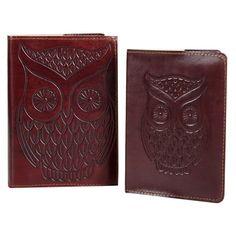 Leather Owl Journal & Passport Cover Travel Set #ConnectedGoods #PinToWin
