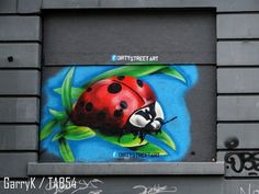 Urban Art a la cARTe: Street Art by Dirty (19) - Ladybird Street Art London, Weston Super Mare, Bethnal Green, 4th Street, Brick Lane, Croydon, Art Uk, Gloucester, Byron Bay