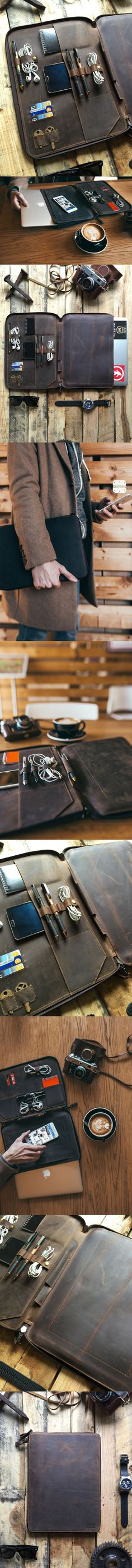 This full grain leather portfolio, leather organizer, leather folder was careful...