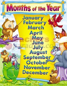 11 best days and months images on pinterest classroom ideas chart months of the year 17 x 22 from teachersparadise publicscrutiny Image collections