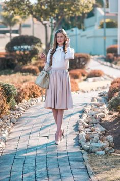 Elegant Elegant Winter Wear Brigitte Midi Skirt - Arum Lilea Beautiful Clothes, Beautiful Outfits, Midi Skirt With Pockets, Nude Shoes, Bow Blouse, Nordstrom Anniversary Sale, Winter Wear, My Wardrobe, Passion For Fashion