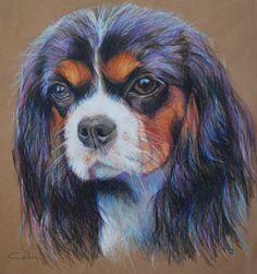 Cavalier King Charles Spaniel Valentine Dog Portrait https://www.etsy.com/listing/178820342