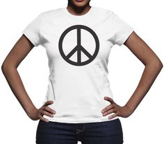 Women's Peace Sign T-Shirt Love Clothing, Peace And Love, Cool T Shirts, Sign, T Shirts For Women, Tees, Mens Tops, Clothes, Outfits