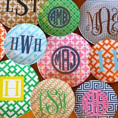 Monogrammed Plate Assortment-- great gift idea. Lots of ese re vailabe through TheStationeryShop.com