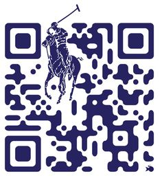QR code with added polo graphic - ralph-lauren-qr-code