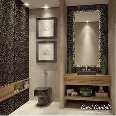 Resultado de imagem para banheiro com seixo
