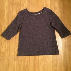 ⚡️SALE⚡️Coldwater Creek 3/4 sleeve boxy sweater Coldwater Creek sweater• 3/4 sleeve • boxy ¥ crew neck• medium ash blue• size S Coldwater Creek Sweaters Crew & Scoop Necks