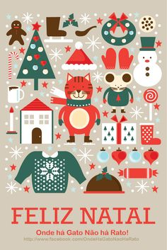 Christmas Cards Compilation by Natasha Hellegouarch, via Behance