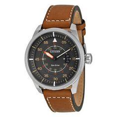 Citizen-Avion-Dark-Grey-Dial-Mens-Watch-AW1361-10H