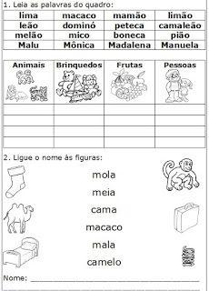 Atividades de alfabetização : sílabas ma me mi mo mu