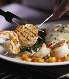 Scallops and Shrimp at Bonefish Grill - Find more Healthy Dining menu choices with nutrition Information before you go.