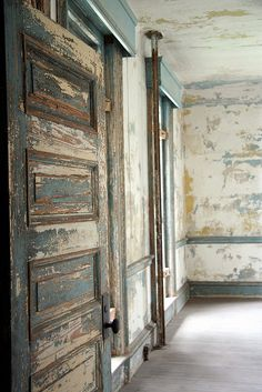 Abandoned hospital room, Ellis Island National Monument, New York Harbor, New York