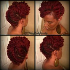 Kinkycurlybeauty | Jumbo flat twists  Visit: www.blackhairauthority.com for more on black hair care!