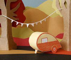 letterpress card DIY teardrop camper by blackbirdletterpress