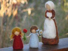 Needle Felted Root children - Sibylle von Olfers Inspired. $68.00, via Etsy.