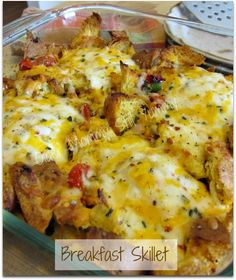 Breakfast Skillet ~ I have made this a couple times and it so yummy and really delicious! It is also very simple and a little different from the regular Breakfast Bakes, in fact, this may be our new go to recipe for Christmas breakfast!