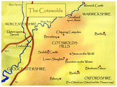 Map of Cotswolds Villages & The Cotswolds Paintings