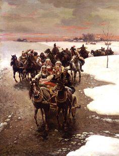 Alfred Kowalski-Wierusz (1849-1915) — The Wedding Party (750×984)