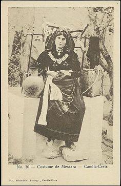 A woman from Messara, in local clothing, Candia Crete. Photographer: Bahaettin Rahmi Bediz