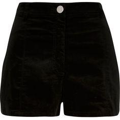 River Island Khaki high waisted cord shorts ($17) ❤ liked on Polyvore featuring shorts, bottoms, khaki, sale, zipper shorts, river island, cord shorts, tall shorts and high-waisted shorts