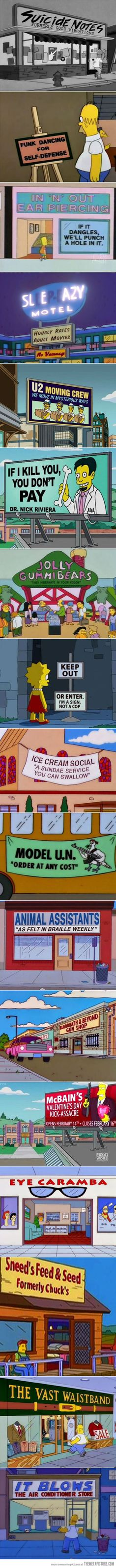 Best signs seen on The Simpsons…