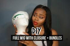 Full Wig With Closure: Peakmill Method [Video] - http://community.blackhairinformation.com/video-gallery/weaves-and-wigs-videos/full-wig-closure-peakmill-method-video/