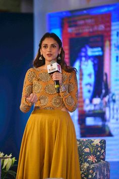 Aditi Rao Hydari at the 6th edition of the India Today Woman Summit and Awards 2015. #Bollywood #Fashion #Style #Beauty #Hot