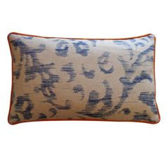 Jiti Justin Cotton Throw Pillow 12 by 20Inch Blue ** Click image for more details. #BedroomFurniture