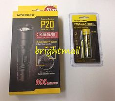 NEW NITECORE P20 800 LUMENS TACTICAL LED FLASHLIGHT w/ 2300mAh battery [p10]