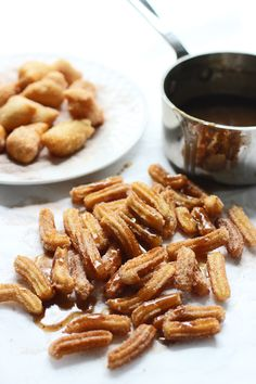 [Brown Butter Churro Fries with Salted Brown Butter Caramel Drizzle] + Click For Recipe!  #easy #recipes #party