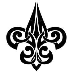 Tribal Fleur De Lis Porcelain Swimming Pool Mosaic x Arte Tribal, Tribal Art, Tatuajes Filipinos, Tribal Tattoos, Tribal Drawings, Maori Tattoos, Ankle Tattoos, Tatoos, Motifs Islamiques