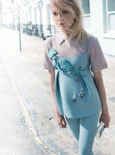 """""""Girl About Town"""" Maja Salamon for Harper's Bazaar UK September 2015"""