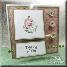 I created this card for one of my posts on the CardMaker Magazine blog. I used product from: Inky Antics, Want2Scrap, Discount Card Stock, Prima, EK Success, K.