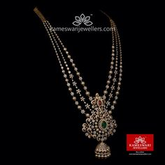 Antique Jewellery Designs, Fancy Jewellery, Gold Jewellery Design, Gold Jewelry, Bridal Jewelry, Diamond Jewellery, Bridal Accessories, Pearl Necklace Designs, Gold Earrings Designs