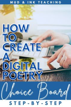 Giving students choice, especially in their study of poetry, is key to giving a broad scope of voices a platform in our classroom. Creating a digital poetry choice board is easy with this step by step tutorial. Here's how to make the board in a simple video tutorial. This lesson can be used in any high school English or middle school ELA classroom for teachers looking for creative teaching ideas. Teaching Resources, Teaching Ideas, Digital Poetry, National Poetry Month, Choice Boards, Secondary Teacher, Ela Classroom, Middle School Ela, High School English