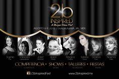 2b Inspired l A Unique Divas Fest -#Competencia, #Talleres, #Shows, #Fiestas.... Agosto 6 al 9 del 2015, #Guadalajara, #Mexico!  Artistas: Karel Flores, Magna Gopal, Desiree Cruz, Jorjet Alcocer, Selene Tovar, Vanessa Lacedonia, Neisma Avila, Sophie Fox y mâs por confirmar....!!!