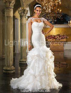 Lanting Bride® Fit & Flare Petite / Plus Sizes Wedding Dress - Chic & Modern / Elegant & LuxuriousOpen Back / Two-In-One Wedding Dresses 2016 - $249.99