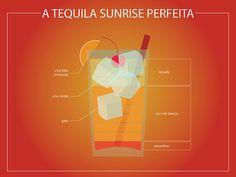 A tequila sunrise perfeita, by Glez-Calzada Glez-Calzada Glez-Calzada Glez-Calzada Rex /one of favorite cocktails Fancy Drinks, Cocktail Drinks, Yummy Drinks, Alcoholic Drinks, Beverages, Cocktail App, Cocktail Tequila, Cold Drinks, Tequila Sunrise