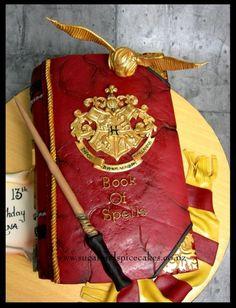 Harry Potter - Book of Spells Cake