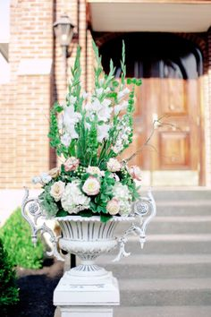 Selecting The Flower Arrangement For Church Weddings – Bridezilla Flowers Church Flower Arrangements, Church Flowers, Floral Arrangements, Wedding Bouquets, Wedding Flowers, Fifty Flowers, Candelabra Centerpiece, Fresh Rose Petals, Hanging Mason Jars