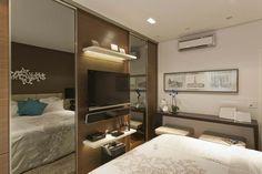 Truques para o pequeno quarto de casal com guarda-roupa. (Parte 2)   Forma Expressa   site de decorção, inspiração e DIY