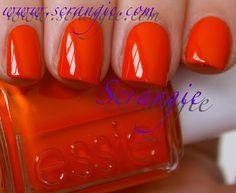 {Essie 2012 Spring Collection} Orange, It's Obvious... a bright orange