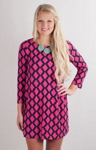 Hourglass Lilly 606DIGFUCNVY Game Day Dress