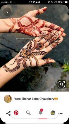 Dubai Mehendi Designs, Khafif Mehndi Design, Rose Mehndi Designs, Back Hand Mehndi Designs, Henna Art Designs, Mehndi Designs For Girls, Mehndi Designs For Beginners, Mehndi Design Photos, Wedding Mehndi Designs