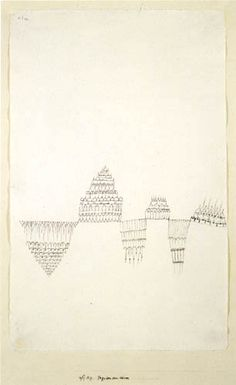 Paul Klee - Pagoden am Wasser 1927 Abstract Drawings, Abstract Styles, Victor Pasmore, Paul Klee Art, Lace Drawing, August Macke, Illustrated Words, Jean Arp, Modern Drawing