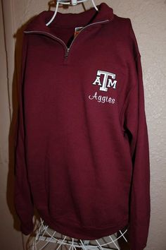 Texas A&M Aggies QuarterZip Pullover by SewSnazzybyBrook on Etsy